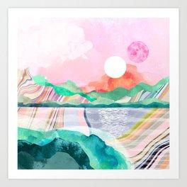 Lagoon Moon Art Print