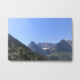 Snow Topped Waterfall Metal Print