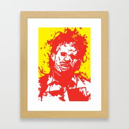 August 18, 1973: Bloodstain Leatherface (color combination K) Framed Art Print