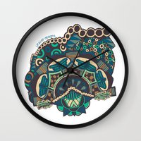 glass Wall Clocks featuring Glass by J. Fuller