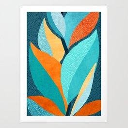 Abstract Tropical Foliage Art Print