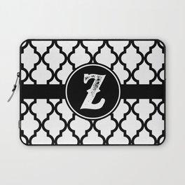 Black Monogram: Letter Z Laptop Sleeve