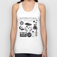 acdc Tank Tops featuring Supernatural in a Nutshell by Katie Gaughan