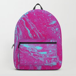 Flood of Pink & Turquoise - An Abstract Piece Backpack