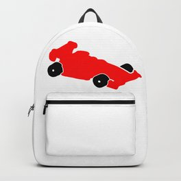 Fast Red Supercar Icon Backpack