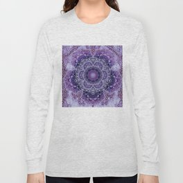 Lilac Boho Brocade Mandala Long Sleeve T-shirt