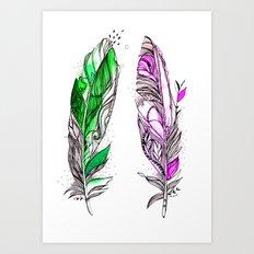 You and Me 2 Art Print