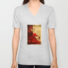 Titus Andronicus - Bloody Shakespeare Tragedy Folio Illustration Unisex V-Neck