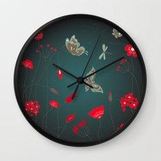 Tatemae Japanese Green Wall Clock
