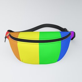 Rainbow flag - Vertical Stripes version Fanny Pack