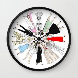 Audrey Hepburn Think Pink Outfits Fashion Wall Clock
