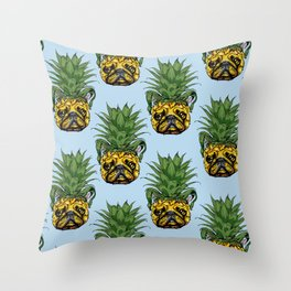 Pineapple French Bulldog Throw Pillow