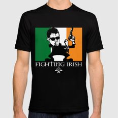 The Fighting Irish Mens Fitted Tee LARGE Black