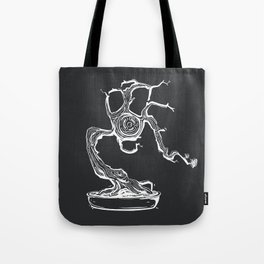 gas mask bonsai white Tote Bag