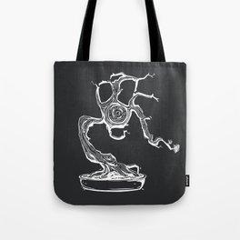 gas mask bonsai white Tote Bag