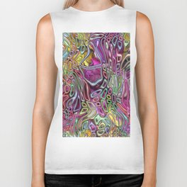 Flowers and candy abstract Biker Tank