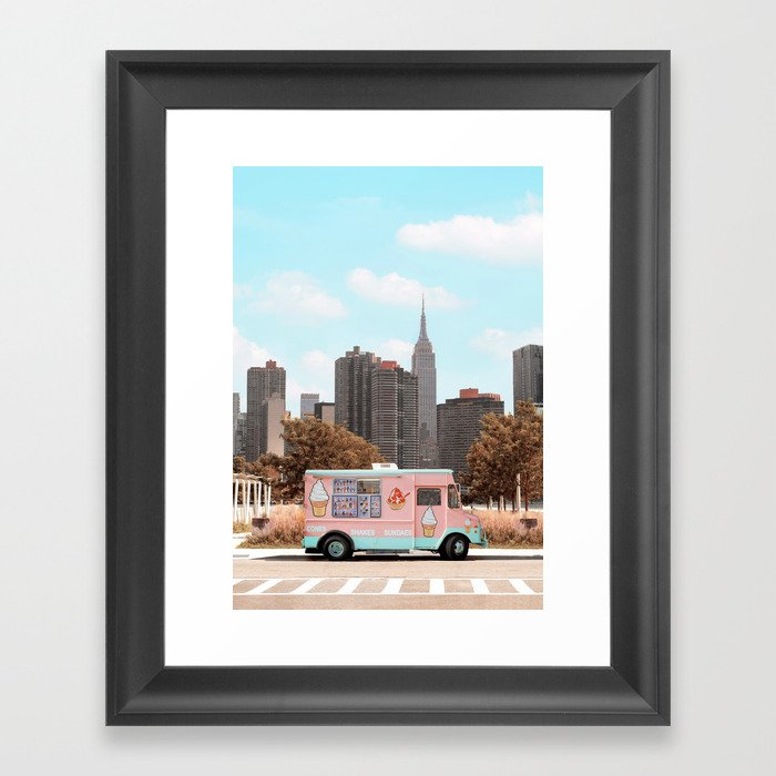 New York Ice Cream Gerahmter Kunstdruck
