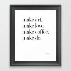 Make Framed Art Print