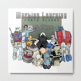 Machine Learning Porto Alegre (metal) Metal Print
