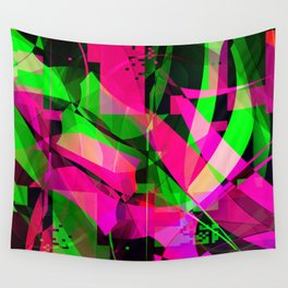 pink & lime Wall Tapestry