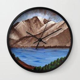 Serene Mountains Wall Clock