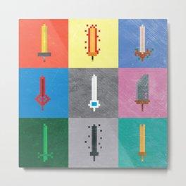 A d v e n t u r e T i m e - Pixel Blades Metal Print