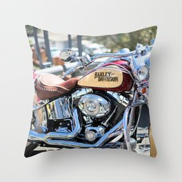 Passion for motorcycles, engines, street bikes Throw Pillow