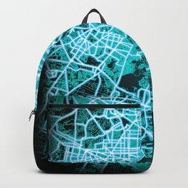 Guadalajara, Mexico, Blue, White, Neon, Glow, City, Map Backpack