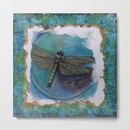 Dragon Fly Original Art By Catherine Coyle Metal Print