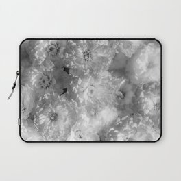 The Flower Pattern (Black and White) Laptop Sleeve