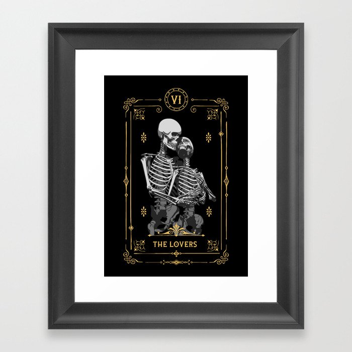The Lovers VI Tarot Card Gerahmter Kunstdruck