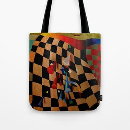 Red green transcendental abstraction Tote Bag