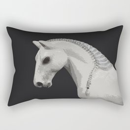 Horse with a Braided Mane Rectangular Pillow