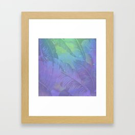Rainbow in Palms Framed Art Print