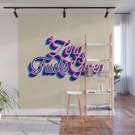 Zero F*cks Given – CMYK Palette Wall Mural