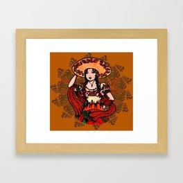 Adelita the Dancer Framed Art Print