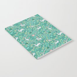 Spring Pattern of Bunnies with Turtles Notebook