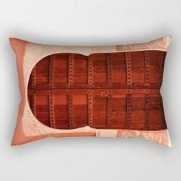 Masala Chai - Red Door in India - Millenial Pink Magenta Maroon - Antique Eclectic Travel Architecture Rectangular Pillow