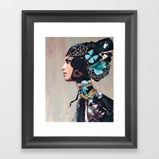Lace and Fur Framed Art Print