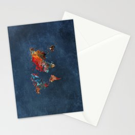World Map 2020 Stationery Cards