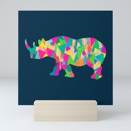 Abstract Rhino Mini Art Print