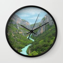 The gorges of Verdon (France) Wall Clock