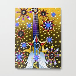 Fusion Keyblade Guitar #124 - Oathkeeper & Omega Weapon Metal Print
