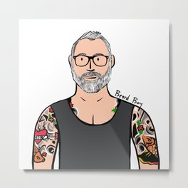 Beard Boy: Brock Metal Print