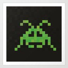 Green Invader Art Print