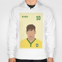 neymar Hoodies featuring NEYMAR by Anthony Morell