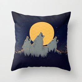 Midnight Sound Throw Pillow