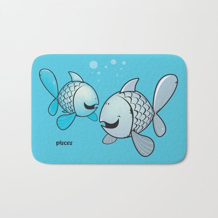 funny zodiac/pisces Bath Mat