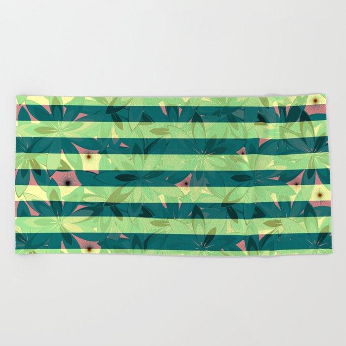 Vegetation-stripes Beach Towel