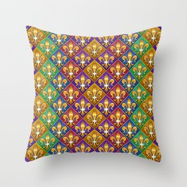 Harlequin Fleur di Lis Diamonds Throw Pillow